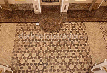 Dark Emperador flooring