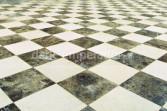 Dark Emperador marble flooring