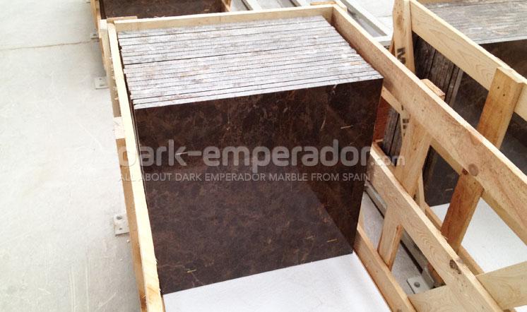 Dark Emperador tiles