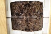 Dark Emperador marble tile detail