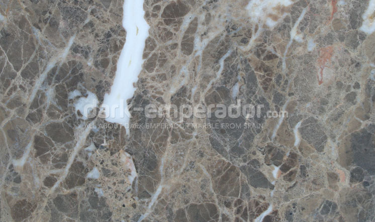 Dark Emperador marble honed