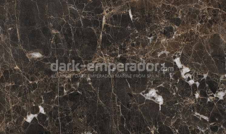 Dark Emperador marble polished